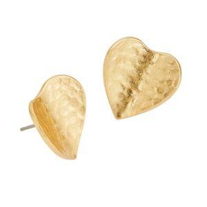Kate Spade Metal Petal Heart earrings